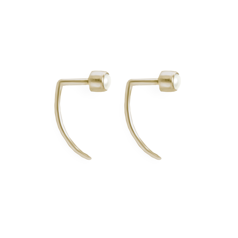 Fireflies Earrings: Pearl 14ct gold