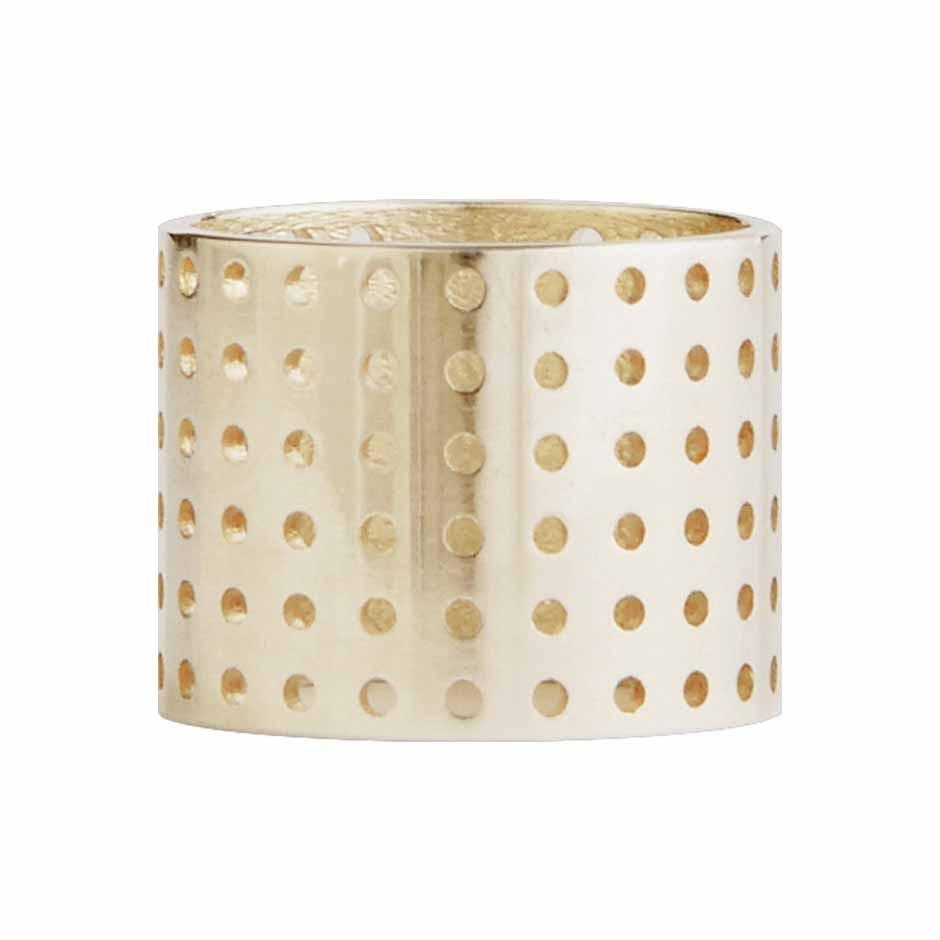 Perforated Ring gold