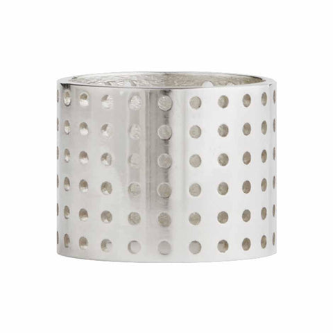 Perforated Ring silver