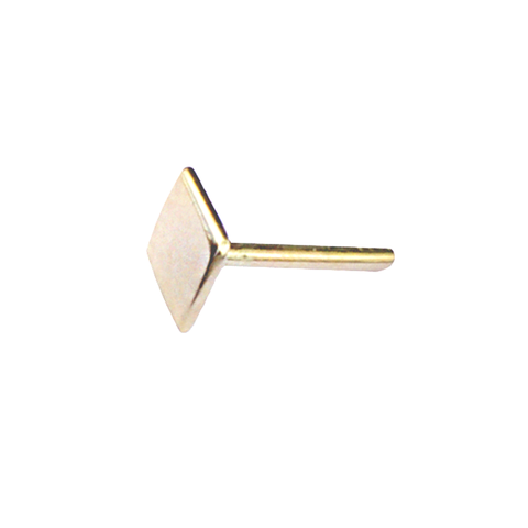Rhombus Stud Earring 14ct gold