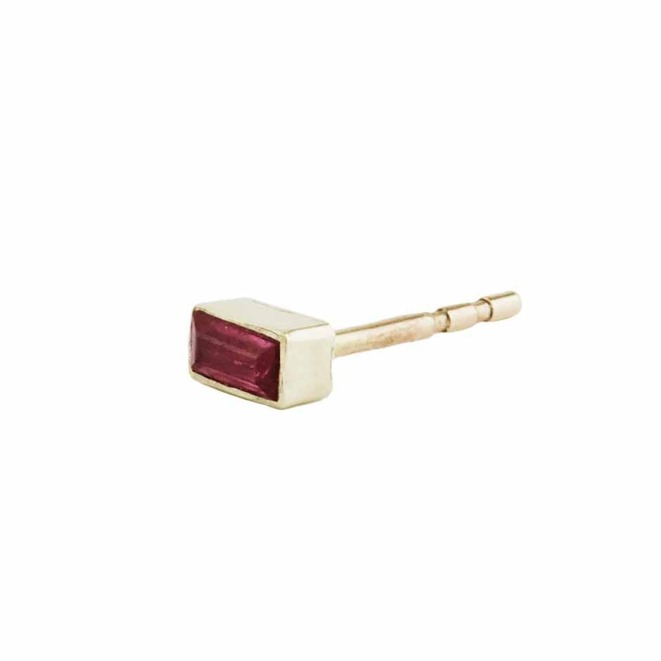 Ruby Stud 14ct gold