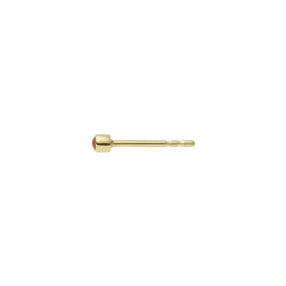 Stud Earring 14ct gold - Coral