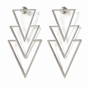 Triple Triangle Earring silver