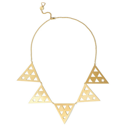 Ainia Triangle Necklace gold