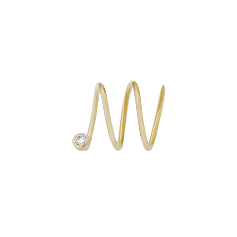 Wave Diamond Large 14ct gold