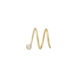 Wave Diamond Small 14ct gold
