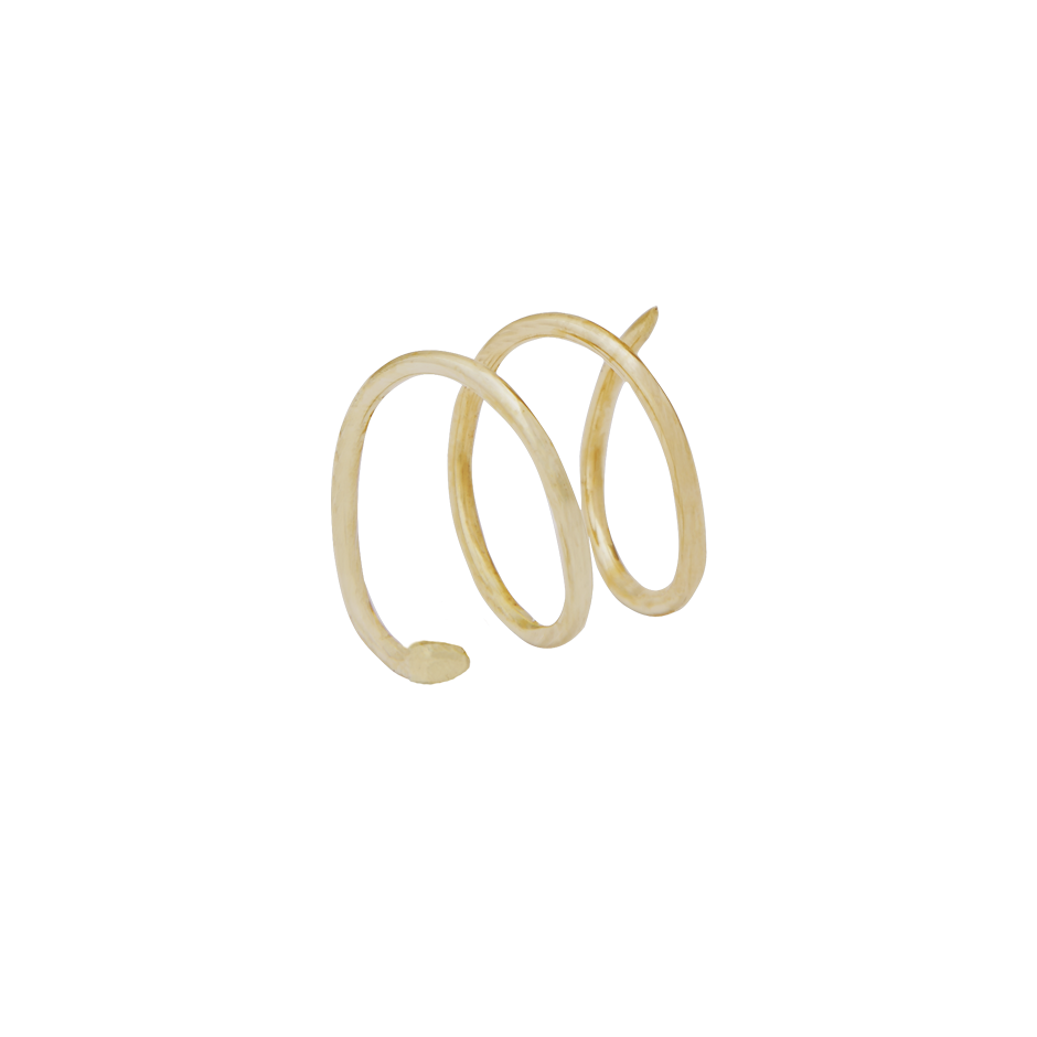 Wave Earring Large 14ct gold