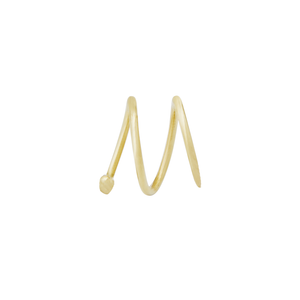 Wave Earring Small 14ct gold