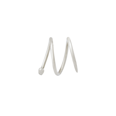 Wave Earring Small silver