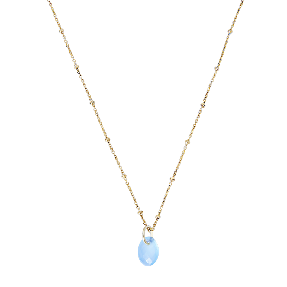 Yamaya Chalcedony Necklace 14ct gold