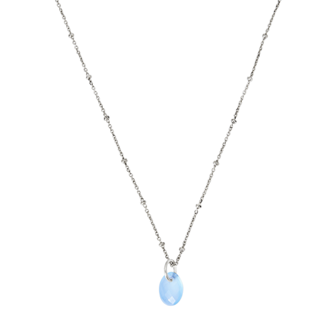 Yamaya Chalcedony Necklace 14ct white gold