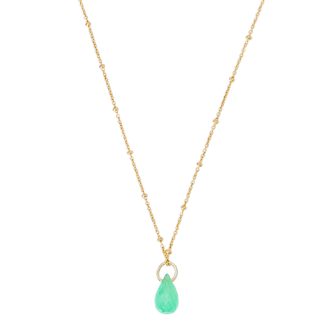 Yamaya Chrysoprase Necklace 14ct gold