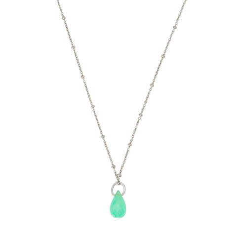 Yamaya Chrysoprase Necklace 14ct white gold