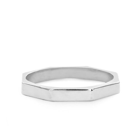 Octagon Ring silver
