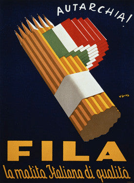 Italian Quality Fila Pencil Advertisement Fine Art Print