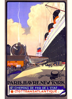 Paris Havre New York by Albert Sebille Fine Art Print