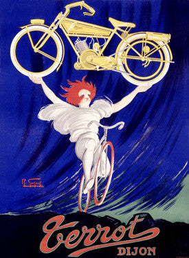 Terrot Bicycle Ad by R. Guzarl Fine Art Print