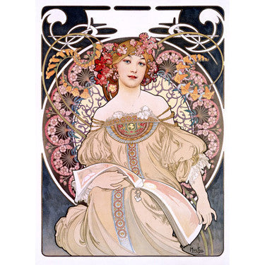Mucha Nouveau Reverie Wood Sign