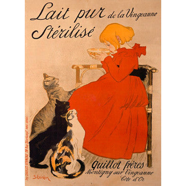 Lait Pur Sterilise Cats Wood Sign