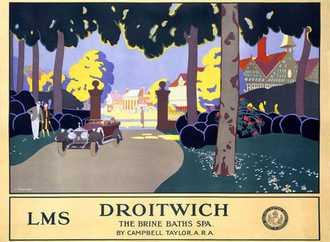 LMS Railway Droitwich Resort Spa by Leonard Campbell Taylor Fine Art Print