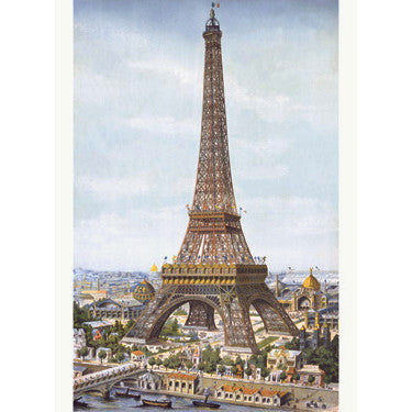 1889 Paris Worlds Fair Eiffel Tower Wood Sign