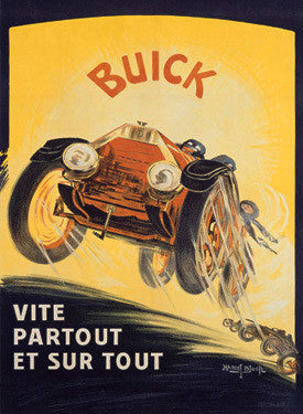 Buick Roadster Automobile Ad by Marcel Bloch Fine Art Print