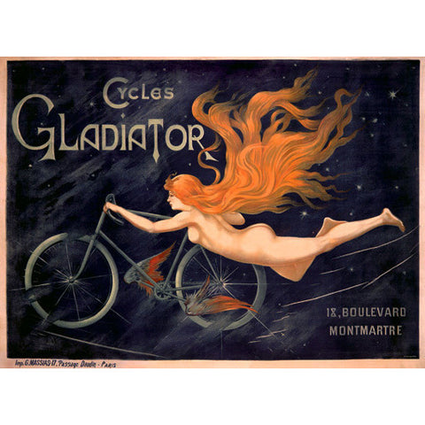 French Gladiator Bicycles Wood Sign