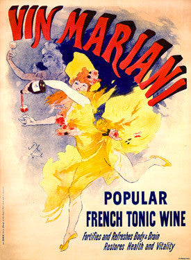 Cheret Vin Mariani Tonic Ad by Jules Cheret Fine Art Print