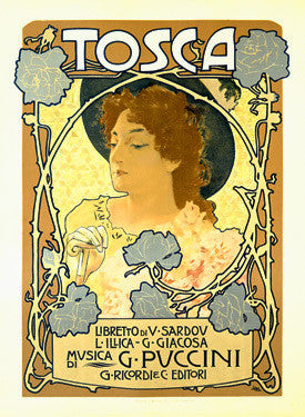 Tosca Opera Advertisement by Alphonse Mucha Fine Art Print