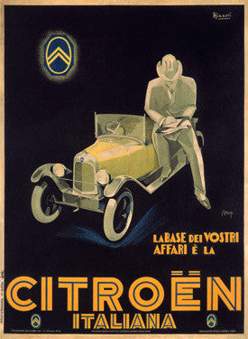 1925 Citroen Ad by Marcello Nizzoli Fine Art Print