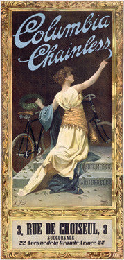 Columbia Chainless Bicycle Ad by A. Romes Fine Art Print