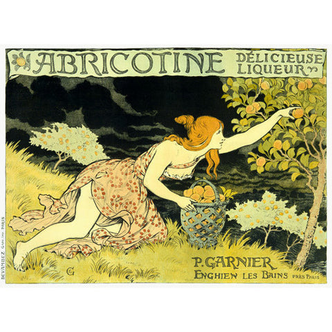 Abricotine Liqueur Wood Sign