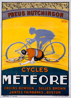 Meteor Bicycle Ad by Georges Faivre Fine Art Print