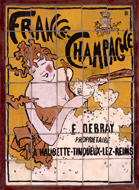 French Champagne Tile Ad by Pierre Bonnard Fine Art Print