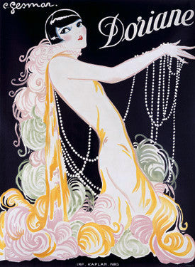 1926 Doriane Advertisement by Charles Gesmar Fine Art Print