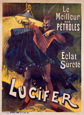 Lucifer Lamp Oil Advertisement by H. Gray Fine Art Print