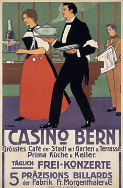 1908 Casino Bern Ad by Eugen Henziross Fine Art Print