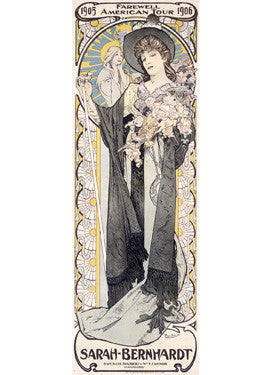 Bernhardt Farewell Tour Advertisement by Alphonse Mucha Fine Art Print