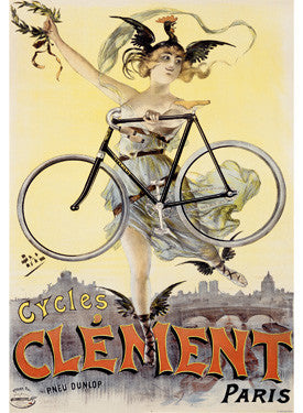 French Biycles Clement Ad Fine Art Print