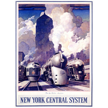 New York Central Railroad Wood Sign