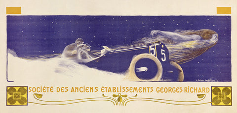 Georges Richard Automobile Ad by Henri Bellery-Desfontaines Fine Art Print