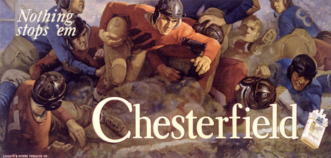 Chesterfield Cigarettes Ad by Charles E. Chambers Fine Art Print
