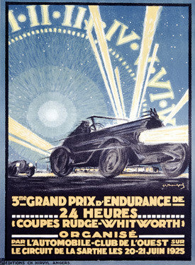 1925 24 Hour Grand Prix d Endurance Ad Fine Art Print