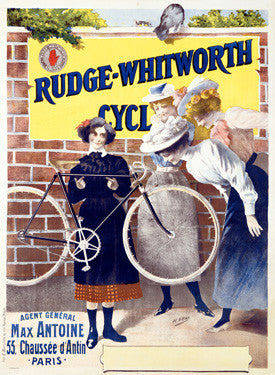 1895 Rudge Whitworth Bicycles Ad by H. Gray Fine Art Print
