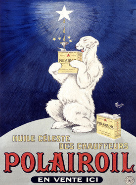 Polairoil Motor Oil PoLar Bear Fine Art Print