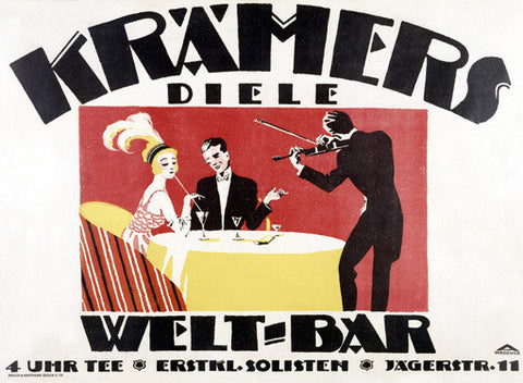 1918 German Kramers Welt-Bar Ad Fine Art Print