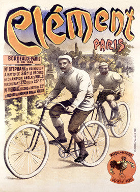 French Clement Bicycle Race Ad Fine Art Print