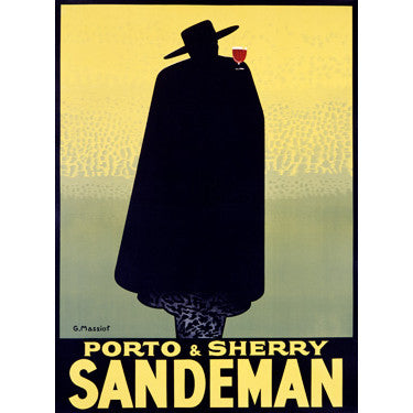 Sandeman Port Wine Wood Sign
