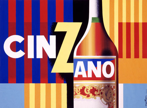 French Cinzano Aperitif Ad by Jacques Nathan-Garamond Fine Art Print