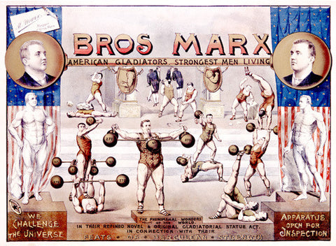 Bros. Marx Strongman Advertisement Fine Art Print